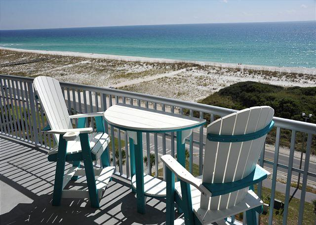 balcony view - Emerald Dolphin 2 bedroom + bunkroom sleeps 9 - Pensacola Beach - rentals