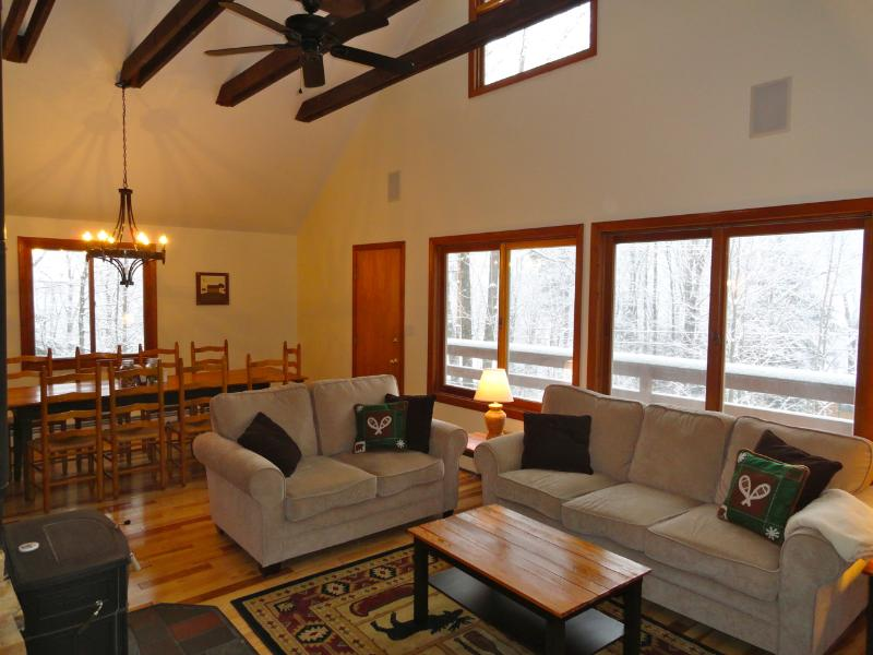 WALK TO SKI TRAIL ON OKEMO! Private Home w/ Hottub - Image 1 - Ludlow - rentals