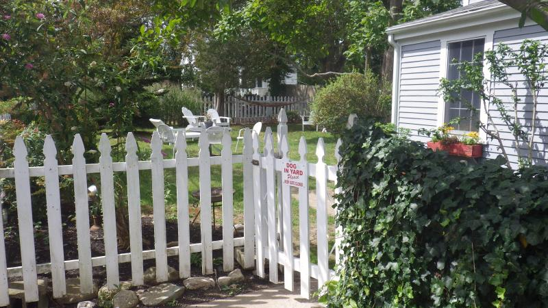 Picket fence encloses the yard and makes it pet safe. - MONTHLY Country Coastal COTTAGE ~ PET FRIENDLY - Little Compton - rentals