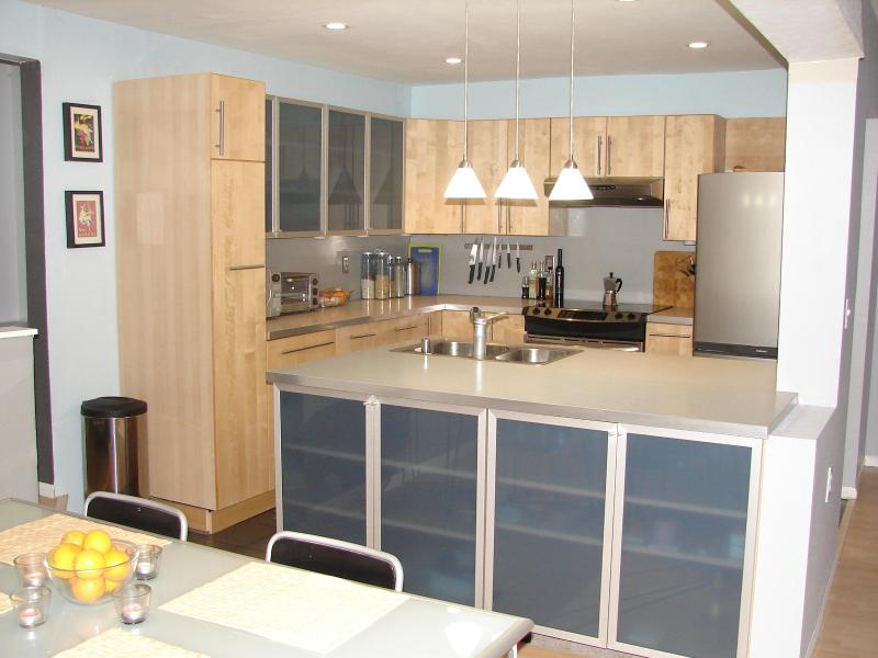 Modern open kitchen to dinning room and living room - Private Master-bed in Modern 3-level Townhouse - Carlsbad - rentals