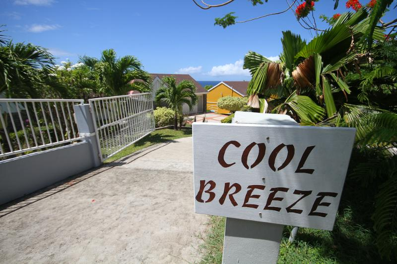 Cool Breeze entrance - Cool Breeze Villa - overlooking ocean with pool - Scarborough - rentals