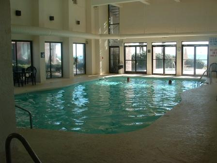 Large indoor pool always warm. - Palms PH4 Oceanfront Penthouse - Birds Eye View of Myrtle Beach - Myrtle Beach - rentals