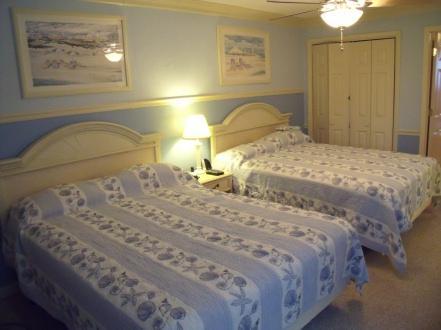 406 bedroom - Palms 406 One-bedroom Oceanfront Suite in the Heart of Myrtle Beach! End Unit! - Myrtle Beach - rentals