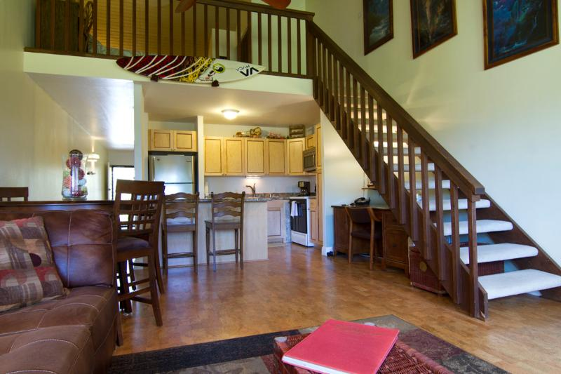 Stairs to the wonderful loft - North Shore Turtle Bay Condo (Sleeps 6 ) - Kahuku - rentals