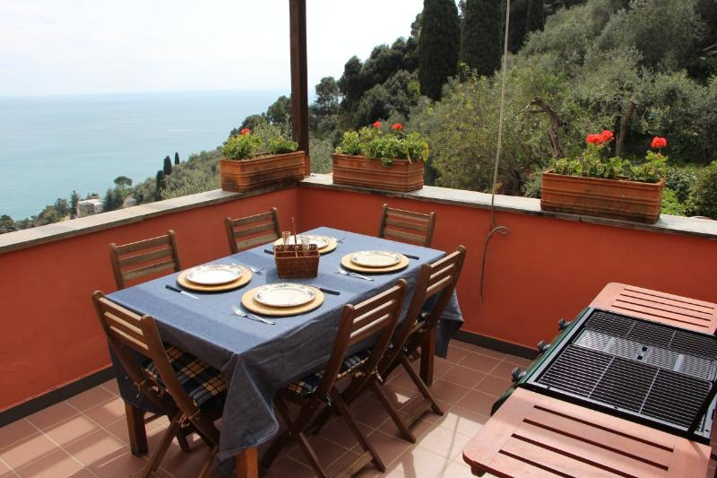 Penthouse with Garden and Terrace Sea View.Zoagli - Image 1 - Zoagli - rentals