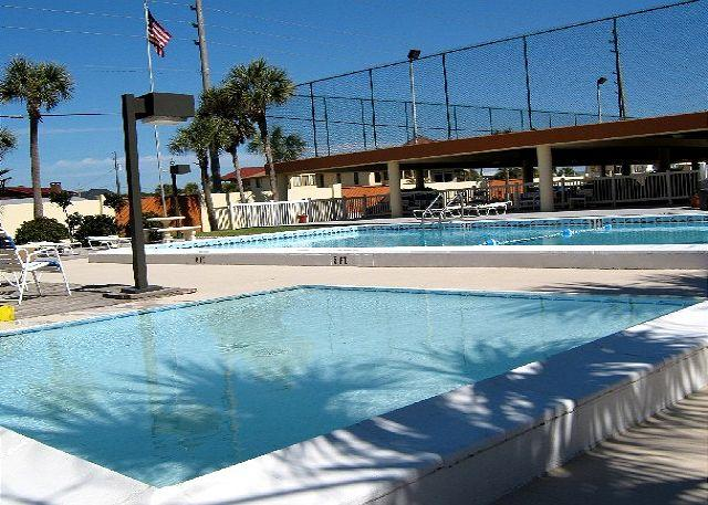 Extra Large Ground Beach Level Patio & Gulf Front. Two Bedroom, Two Full Bath - Image 1 - Fort Walton Beach - rentals