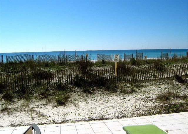Actual Patio View - EXTRA LARGE PATIO!!!!! - Fort Walton Beach - rentals