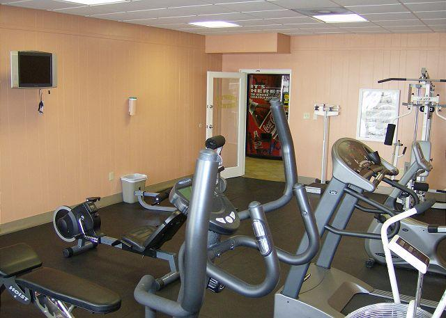 Fitness Room - NEW PAINT!, with view and between the two pools. - Fort Walton Beach - rentals