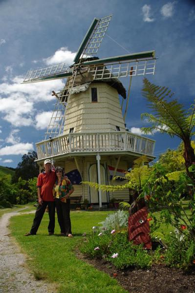 van den Bemd windmill at Millhaven. - Millhaven Windmill cottage. Rotorua. New Zealand. - Mourea - rentals