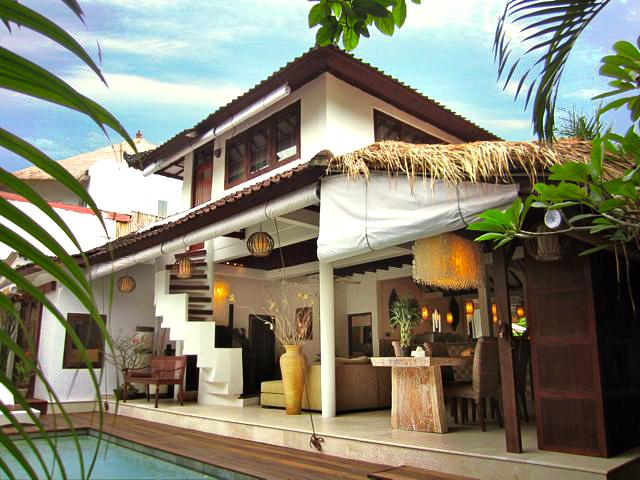 Villa E1, seen from the garden - Villa E1, Luxury & Romantic Pool Villa in Seminyak - Kuta - rentals