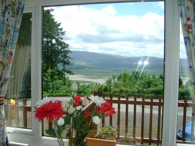 TREETOPS view from Lounge - TREETOPS Holiday Chalet at Plas Panteidal near Abe - Aberdovey / Aberdyfi - rentals