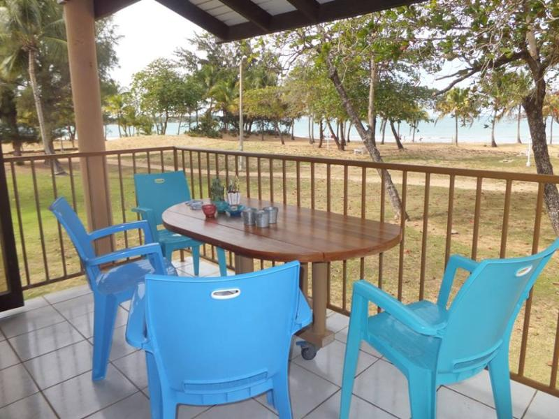 Balcony with beach view - Beachfront Penthouse in Rio Grande, Puerto Rico - Rio Grande - rentals