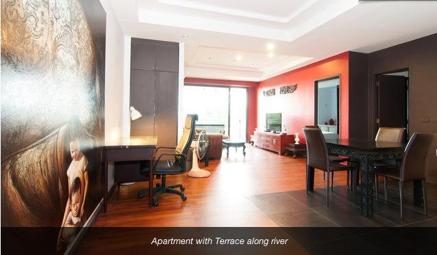 Large one bedroom with terrace wifi & maid service - Image 1 - Bangkok - rentals