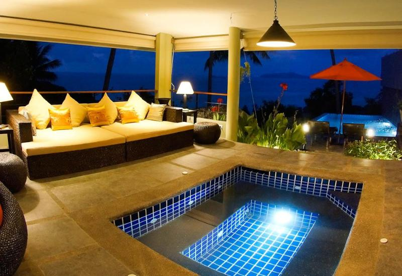 Enjoy the tropical style jacuzzi - Romantic & Heavenly One Bed, Ocean View Villa - Koh Samui - rentals