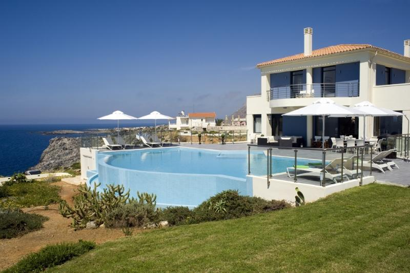 Villa Moon holiday vacation villa rental greece, crete, sea views, pool, near Chania, holiday vacation villa to rent to let greece, - Image 1 - Chania - rentals