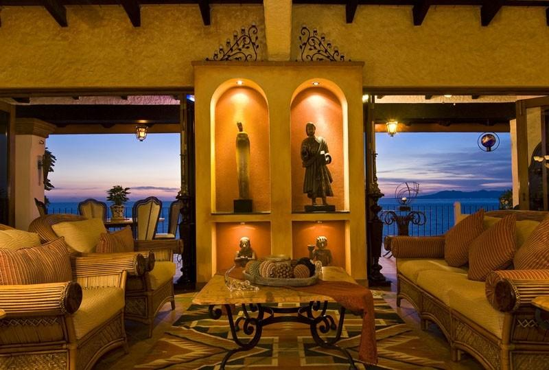 Living room at sunset - Unbelievable Beautifuly Decorated Condo with Spectacular Views - Puerto Vallarta - rentals