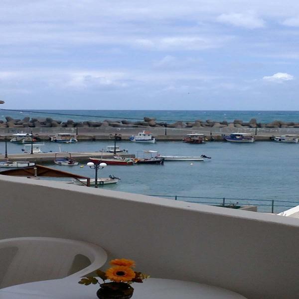 view from the balcony - Kiveli apartments - Milatos - rentals