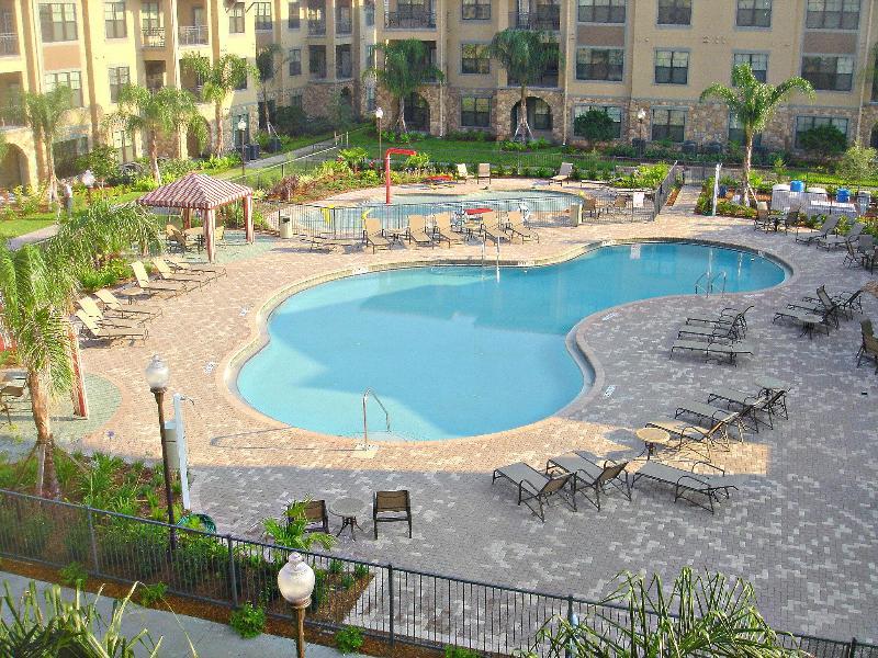 View from balcony - Stunning Mediterranean style resort condo in Orlando, FL - Davenport - rentals
