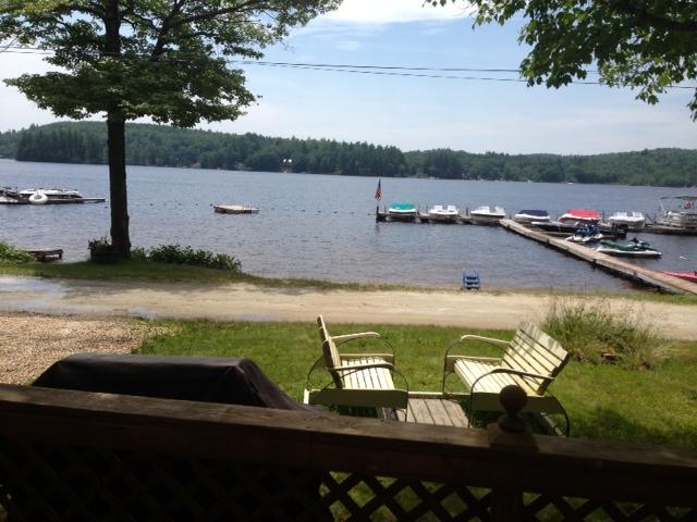 View from deck - Adorable Lakefront Cottage Rental - Barnstead - rentals