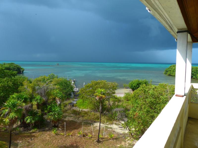 A view off the balcony where you will stay! - House; Oceanfront, Secluded, Off-grid with Electricity, Wi-Fi, & Fabulous Views! - Caye Caulker - rentals