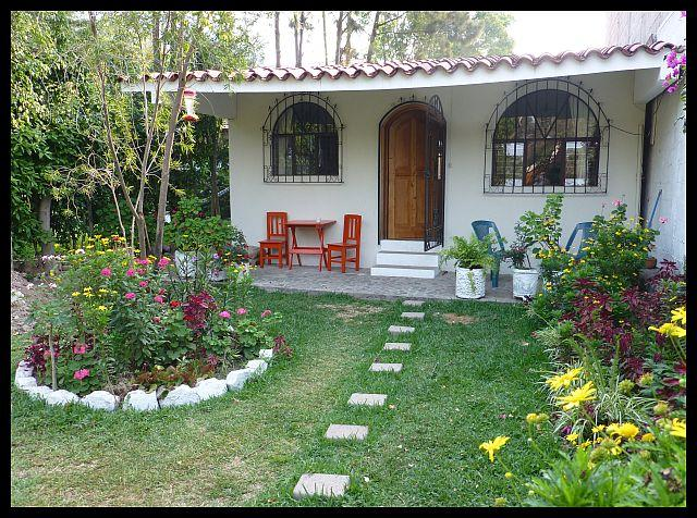 Front of house with porch and part of garden - 2-bed house in Pana - Panajachel - rentals