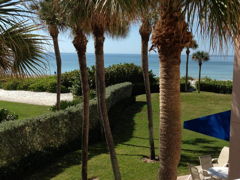 Gorgeous view from Balcony of GULF FRONT condo - Beautiful Gulf Front Condo on White Sandy Beach - Longboat Key - rentals