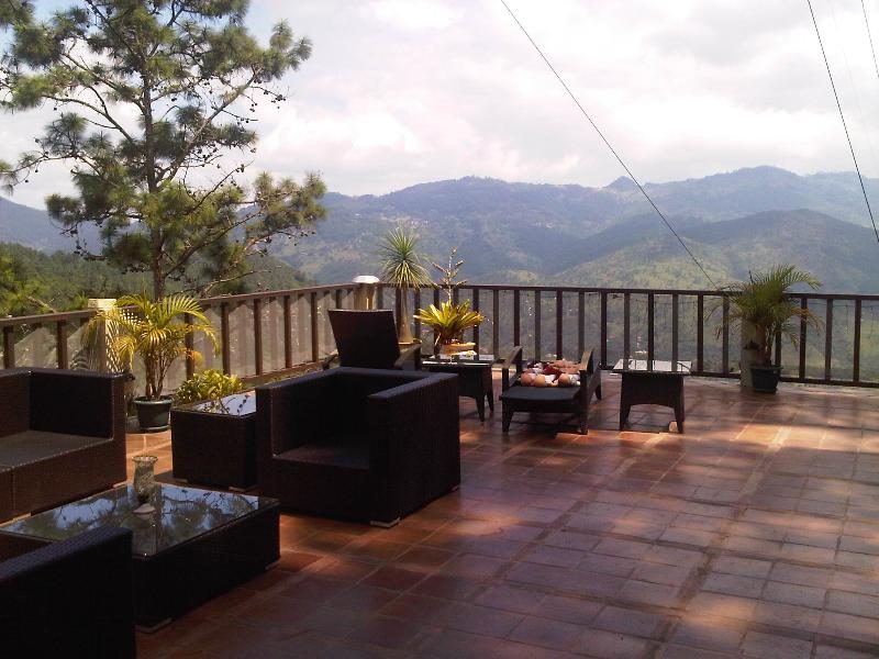 Mountain view from the porch - Top of the Mountain Chalet Style Estate - Woodston - rentals