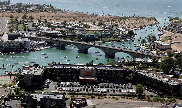Aerial View - Lake Havasu Vacation Rental - London Bridge Resort - Lake Havasu City - rentals