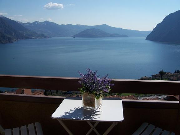 view - Casa LUISA -  pool and wonderful view lake Iseo - Riva di Solto - rentals