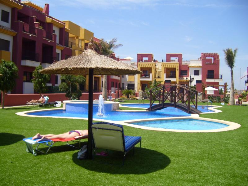 Outdoor Pool - 3 Bedroom Luxury Apartment - Royal Park Spa - Cabo Roig - rentals