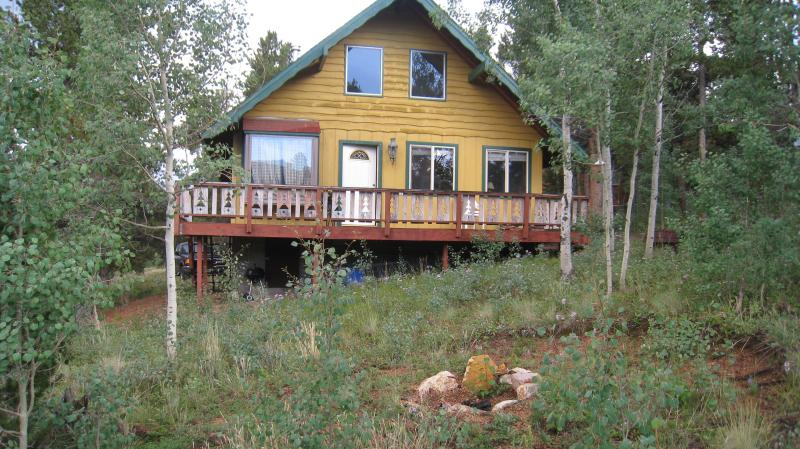 Front of home and deck - Colorado...Mtn views / backs up to National Forest - Bailey - rentals