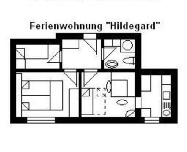 Grundriss des Apartments