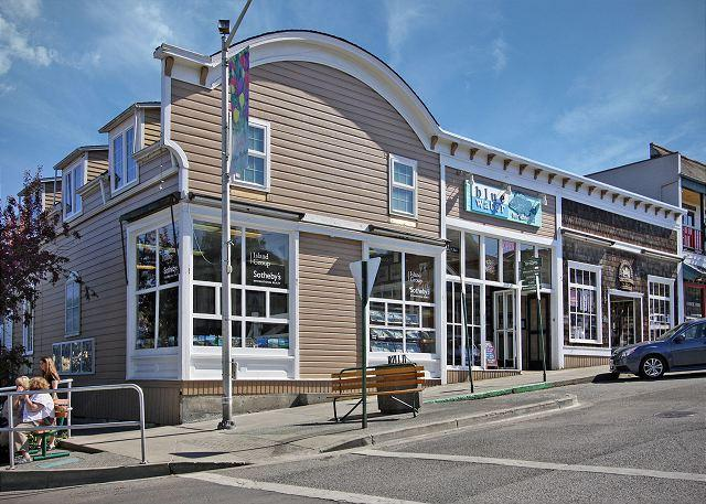 The building which houses the Blue Water condo - as seen from Spring Street. The upstairs windows belong to the condo. - Blue Water Suite - San Juan Island - rentals