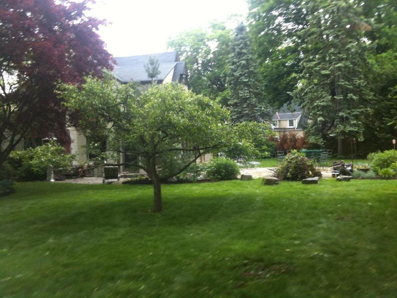 side rear of house patio/firepit - Soundshore Rye Mamaroneck Greenwich NYC 38 min - Mamaroneck - rentals