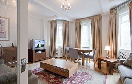 Living Room (daily maid cleaning Mon-Sat) - Luxury 3Bed/2Bath Apartment Lancaster Gate (FH) - London - rentals