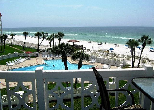 Actual Balcony View - Comfortable and Gulf Front -2 bed/ 2 bth - Sorry - NO Smoking NO Pets - Fort Walton Beach - rentals