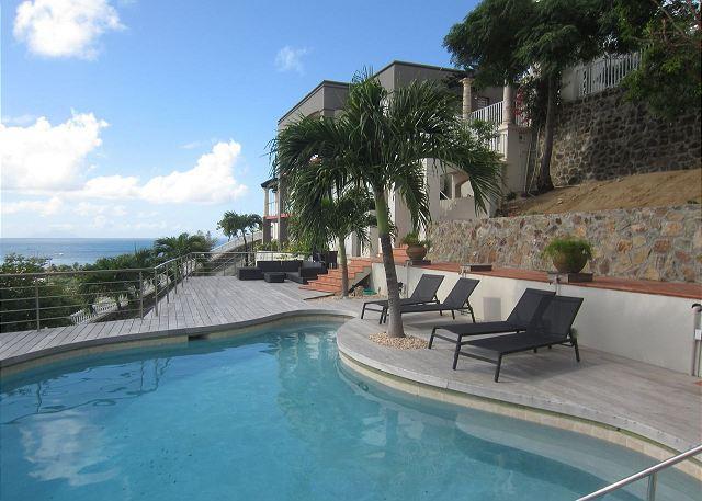 Large infinity pool - En'Sea:Oceanviews of Great Bay and short walk to beach | Island Properties - Saint Martin-Sint Maarten - rentals