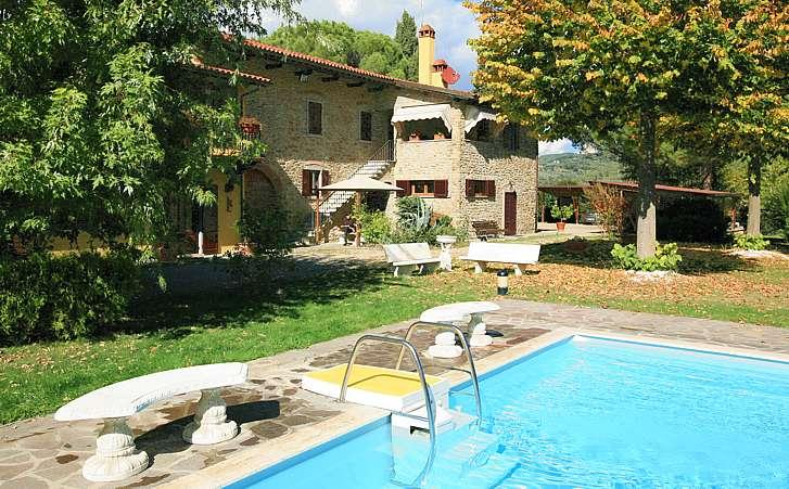 Charming Tuscan villa only 2,5km from AREZZO with heated pool and much comfort - Image 1 - Arezzo - rentals