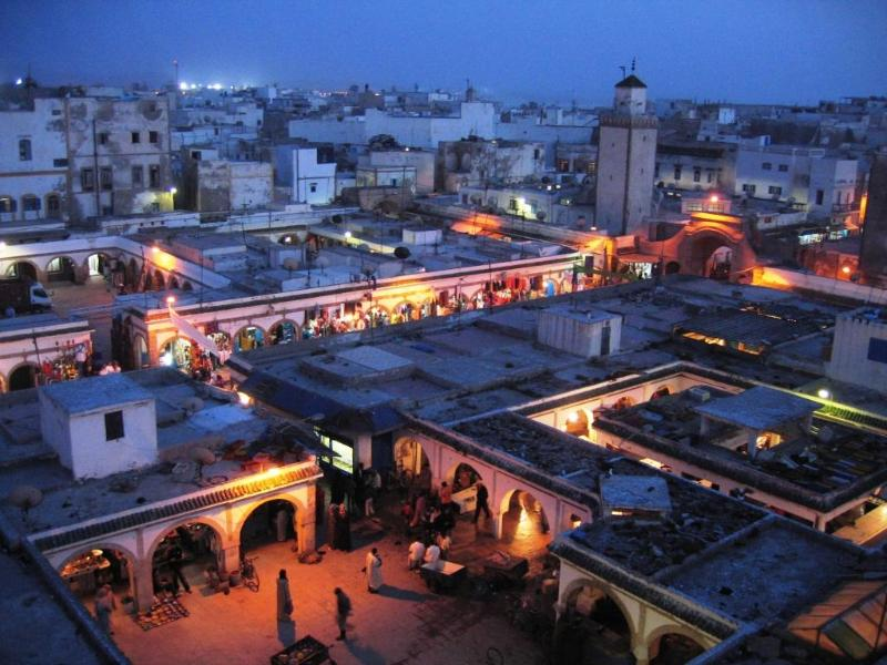 Night view from Terrace - Spacious apartment with private terrace in Medina. - Essaouira - rentals