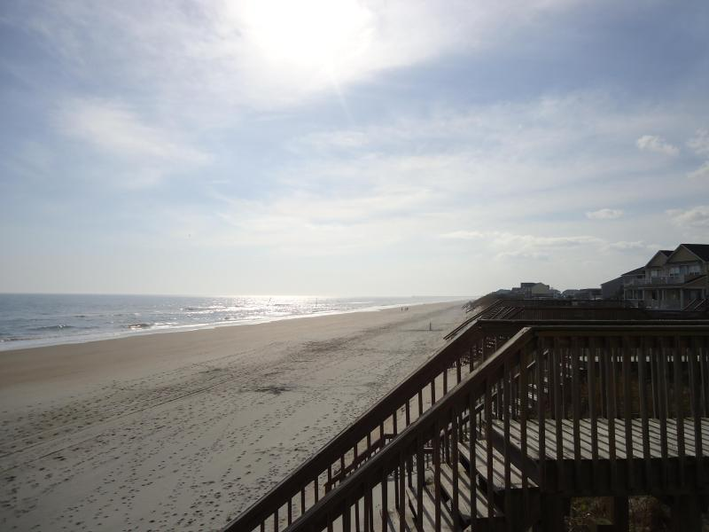 Just at the end of board walk one beautiful morning - New Horizon located in Surf City on Topsail Island - Surf City - rentals