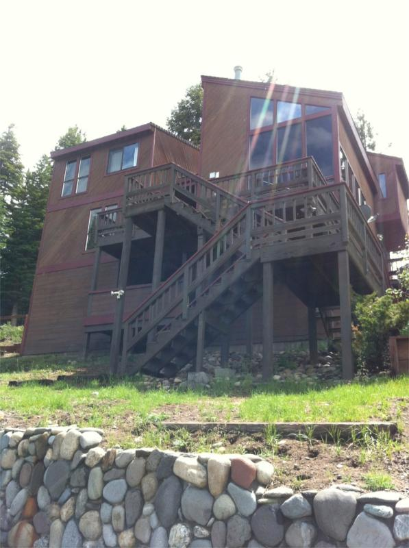 Exterior Front of Home - Luxury 4BR with Mt Tallac Views! - South Lake Tahoe - rentals