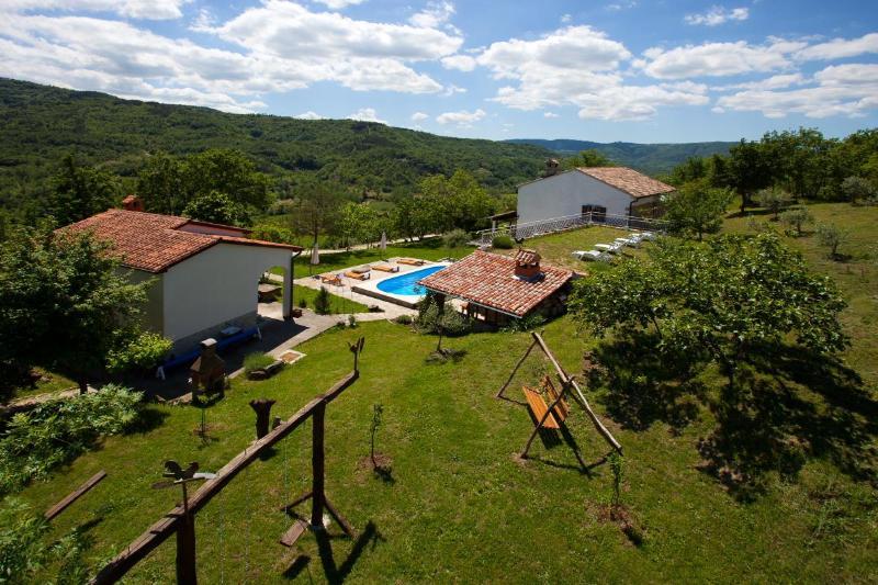 Glavini Estate,view from the playground area - Glavini - magical organic estate with 3ha of land - Istria - rentals