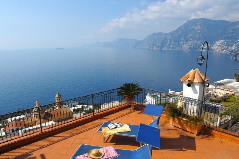 Terrace of Villa Il Bacio in Praiano - Villa Bacio in Praiano enchanting sea view - Praiano - rentals