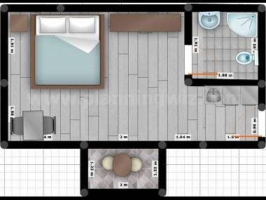 A3-zapad(2): floor plan - 8093  A3-zapad(2) - Tucepi - Tucepi - rentals