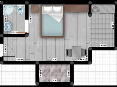 A4-istok(2+1): floor plan - 8093  A4-istok(2+1) - Tucepi - Tucepi - rentals