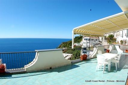 Moressa sunny apartment in Praiano, large terrace - Image 1 - Praiano - rentals