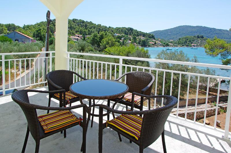 View from upper terrace - Comfortable Villa steps from the beach - Vela Luka - rentals