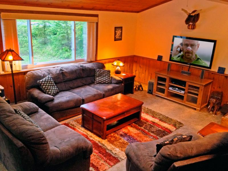 Welcome to our Killington retreat! Relax in the living room. Watch a movie or start a fire. - Killington Mtn Retreat: Location. Ski. Fun. Big. - Killington - rentals