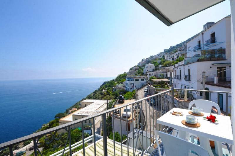 view - Moressa Little new restored house  Praiano centre - Amalfi - rentals