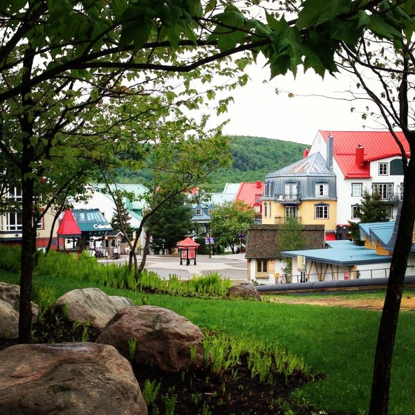 Our view of the village from the terrace - Right were you need to be. - BEST LOCATION, BEST PRICE, ALL AMENITIES - Mont Tremblant - rentals